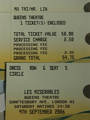 Musicals ticket