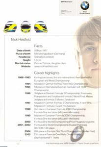2006上海F1:Nick Heidfeld簽名明信片(反面)