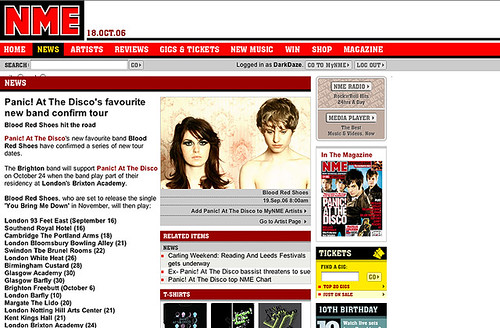Blood Red Shoes on NME.com