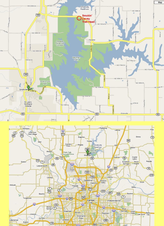 Smithville Lake Map Smithville Lake Trails Smithville Lake Map