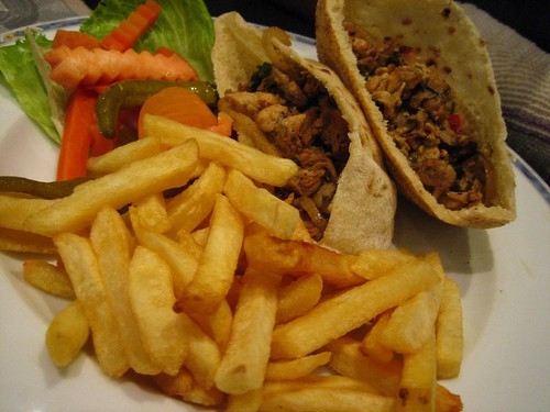 Shwarma at the Nile Hilton