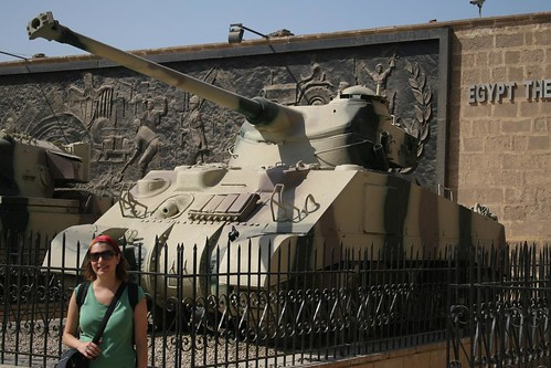 Me with a tank (for dad)