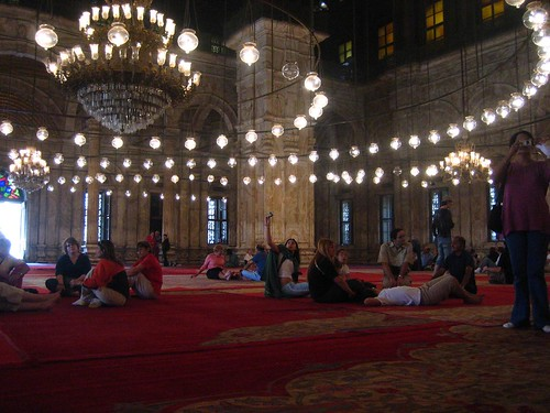Clusters of People in Mohammed Ali's Mosque
