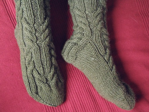 log cabin socks FO