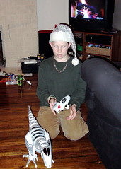 Christmas 2005: Roboraptor and Elf Hat