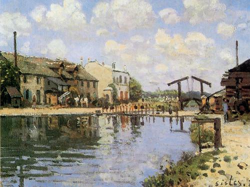 Le canal St Martin en 1872