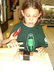 Caleb considers the Spam Sushi
