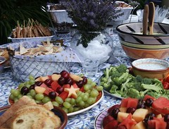 a wedding spread, July 2006