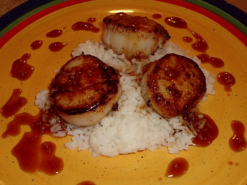 Seared Scallops with Ginger-Lime Sauce