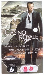 Ticket 007 Casino Royale