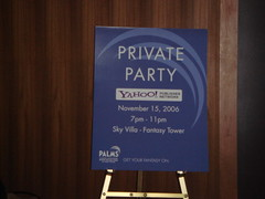 Yahoo Party at Pubcon