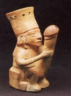 生殖器的崇拜,古印加的陶偶。我在紐西蘭看過毛利人的陽具木雕,比這還誇張。
