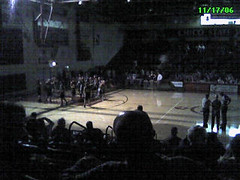 Lights out at Acker Gym