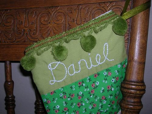 """""""Daniel's stocking"""" width=""""200"""""""