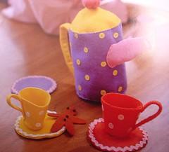 toys to sew tea set