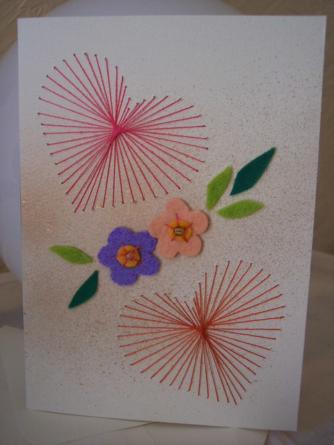 Art embroidery paper string « origami