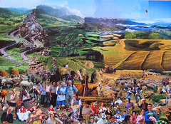Happy people on the farm: a collage by Adrian Kenyon photo by adriansalamandre