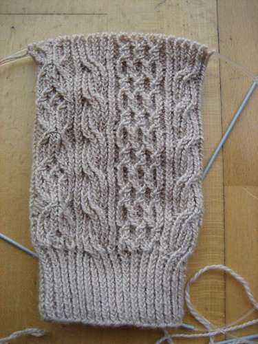 Bayerische sock, almost 3 repetitions finished