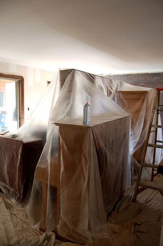 livingroom in plastic