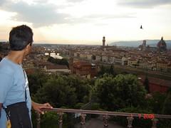 Pemandangan Kota Florence Dari Atas Piazzale Michaelangelo, Florence, Italy