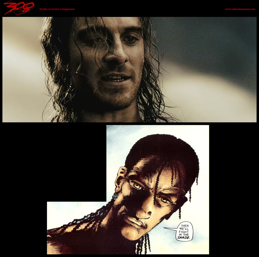 comic to screen comparison of '300'