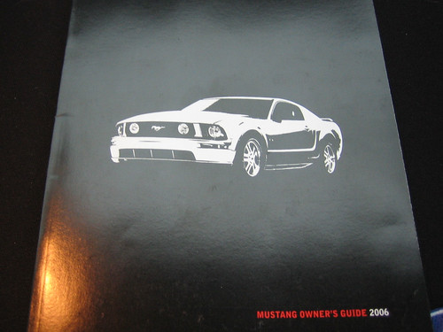 2006 Ford Mustang Owner's Manual Cover