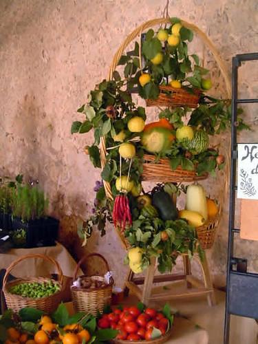 cesta con frutos