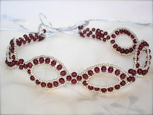 Garnet Necklace (round beads)