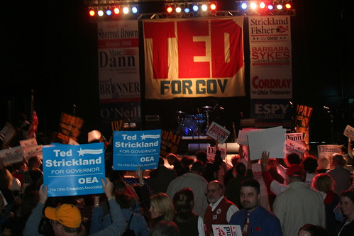 Ted Strickland rally 10/18/06