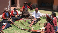 Chinchero teens hanging out (Center for Traditional Textiles - Chinchero Branch)