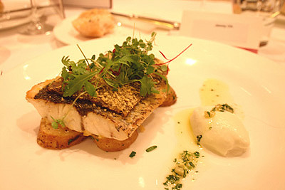 Jewfish with Mushroom Crust and Gremolata