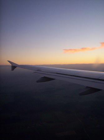 Un ala de un avión