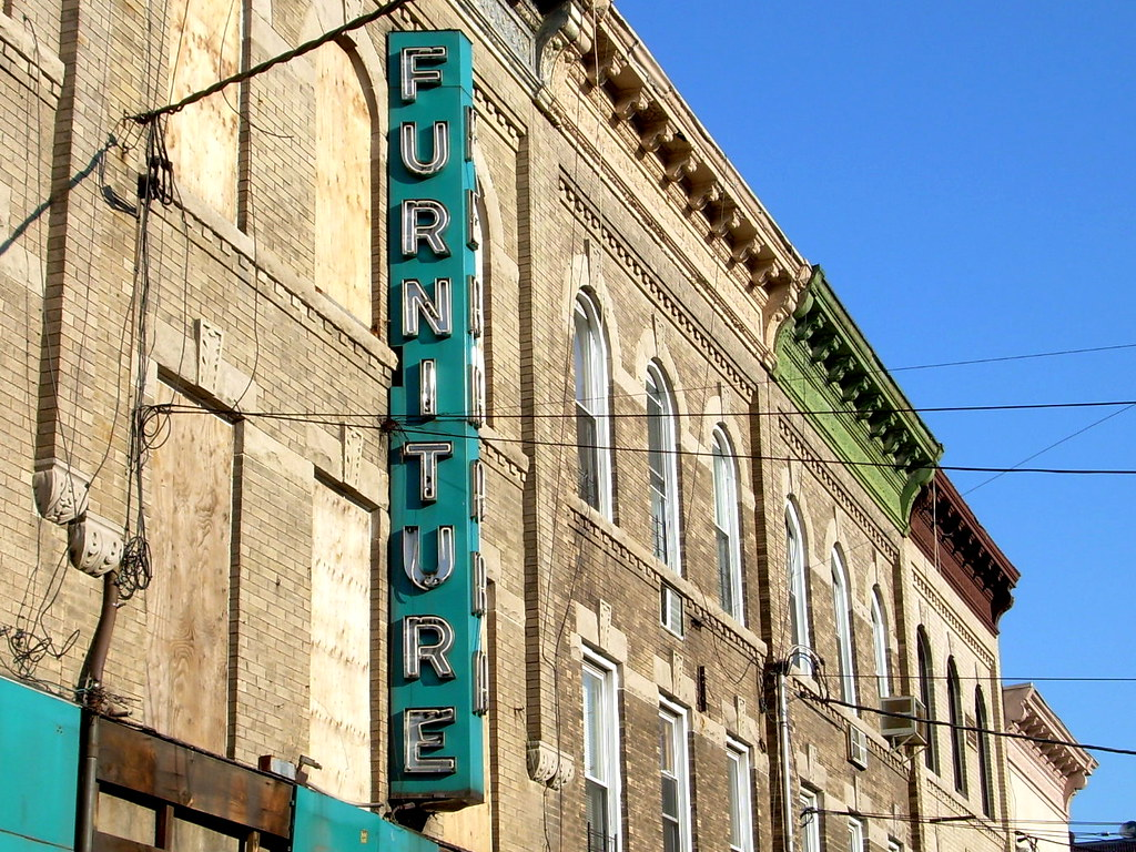 old furniture store, dyker heights