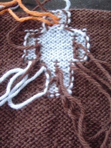 back of intarsia robot