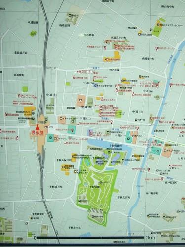 JR 秋田車站週邊地圖