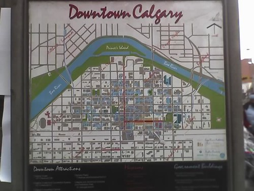 Tourist map of downtown Calgary