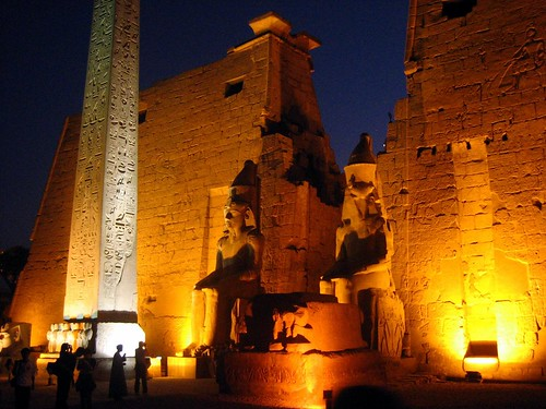 Luxor Temple at Twilight