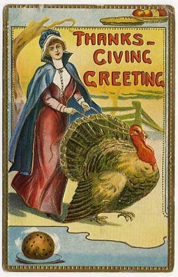 Thanksgiving - Woman Turkey