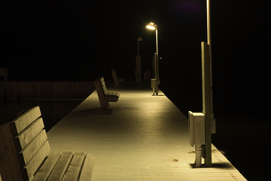night time dock