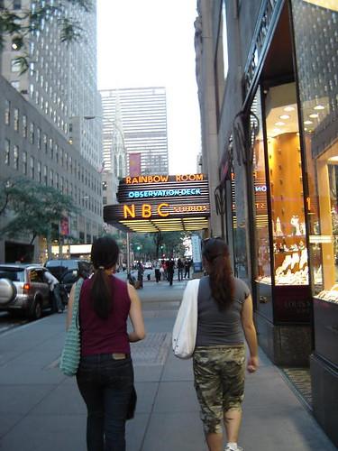 NBC awning.