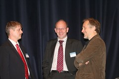 Von links nach rechts: Frank Schoenefeld, Joachim Niemeier, Tim O'Reilly