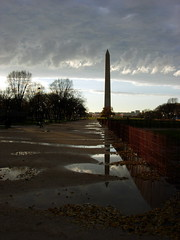 Washinton Monument in a different reflecting pool