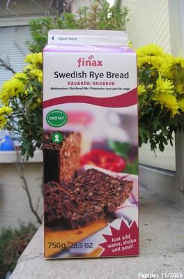 swedish rye bread - Pain de seigle suédois