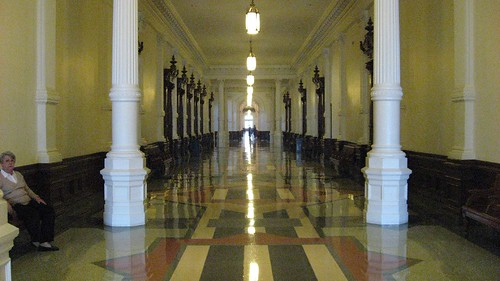 Long corridors in the Texas State Capitol