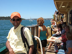 On the ferry to Manly beach
