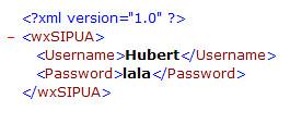 wxSIPUA XML