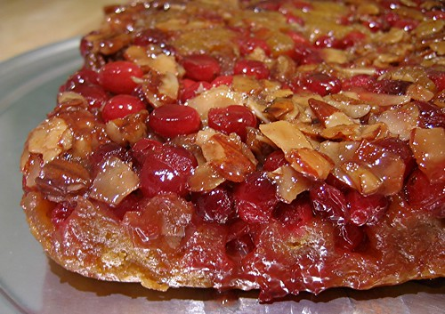 cranberry upside down pumpkin cake