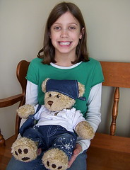Kristyn and her Build A Bear, Sandy