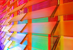 Detail of LEDs and shutters at the Torre Agbar, Barcelona (I) photo by Semi-detached