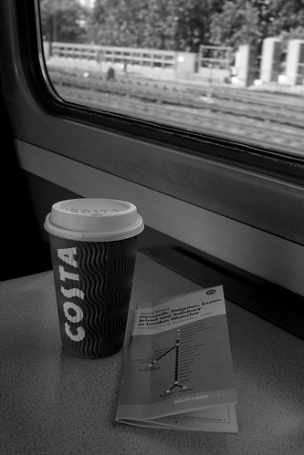 costa on a train